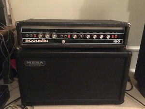 Acoustic 150 and Mesa Boogie 2x12