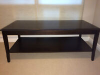 Modern Dark Wood Coffee & End Table Set - Great for Condo Living