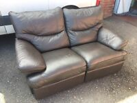 Recliner sofa. Two seat.