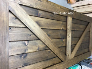 Cusotm Handcrafted Rustic Barn Door Headboards