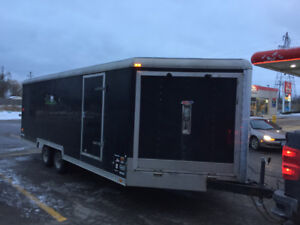 5 machine Enclosed sled trailer