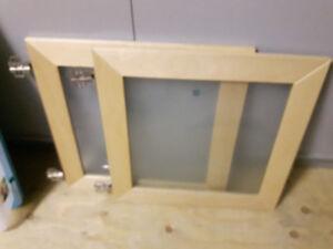 Portes d'armoires vitrées