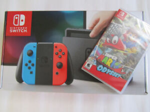 Brand new/ Sealed Nintendo Switch Console with Mario Odyssey