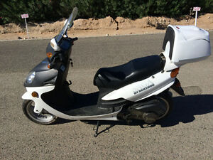 Scooter made by Saga. 150 cc