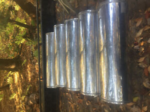 """6"""" stainless insulated fire place chimney."""