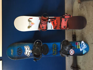 2 used  snow boards for sale