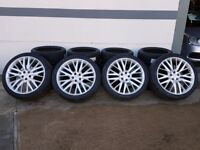 """22"""" SVR Style Alloy Wheels will fit a Range Rover Sport and Dicovery 3 and 4"""