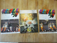 Football Tiger Cats Hamilton Programme Signé 1970