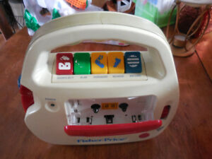 radio enregistreur  fisher price  vintage