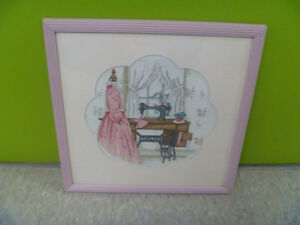 Singer Sewing Framed Cross Stitch
