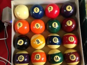 Sets of billiard balls Kitchener / Waterloo Kitchener Area image 1