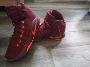pair of Nike Air shoes