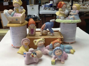 9 pieces of 1984 cabbage patch figurines