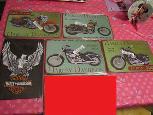 Harley Davidson metal signs - new