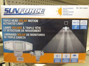 Sunforce Triple Head Solar Motion Light  - 2 for $50