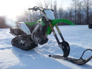 Clean/low use- 2014 KXz450F with 2014 Timbersled