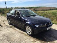 BMW 320D SE BLUE 4DR DIESEL 2002 LEATHER