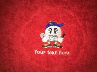 Embroidery and heat seal printing