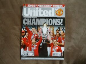 Lot of 8 Manchester United Soccer Magazines 2005-06