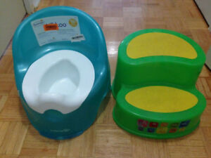 For TODDLER Potty & step stool