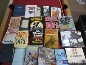STACK OF AMERICAN WW1,WW2,VIETNAM BOOKS SELLING ALL TOGETHER ask