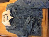 Topman - Blue Denim Jacket with fur lining - Size-L