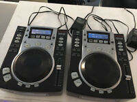 Vestax CDJ's CDX-05 cd DJ decks pair