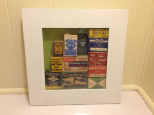 Vintage Framed Display Collection Of Ontario Made Tacks