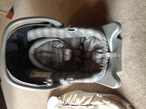 Infant car seat and winter insert cover