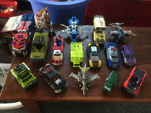 Lot of 16 Transformers including a large Optimus Prime