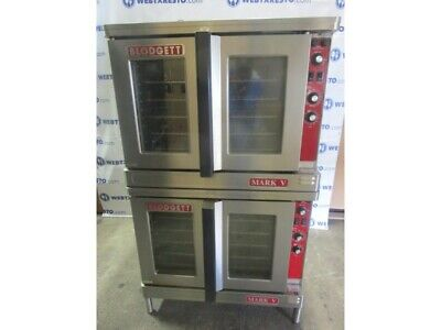 Blodgett Mark V Full Size Double Stack Convection Ovens Electric Great