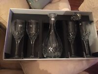 ROYAL DOULTON Wine Glasses and Decanter Set