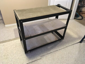 Heavy duty shelf with wheels