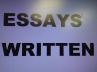 Essays Written For You - Editing - Tutoring