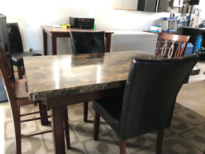 Table and/or chairs