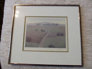 Signed drawing Beautiful land scape