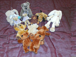 Small crafting bears, bunnies & dogs for sale