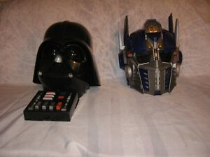 Helmet- Darth Vader -- Optimus Prime--and --Empire soldier Mask