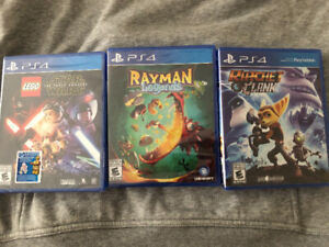 3 PS4 games Brand New