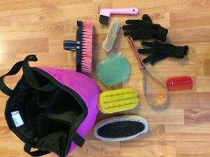 Shedrow ring tote with grooming tools London Ontario image 1