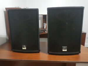 Wharfedale Pro SVP-15 Passive Speakers, Stands and Cables