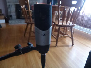 Sennheiser MK4 Studio Microphone with accessories.