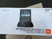 JBL ONBEAT LOUDSPEAKER FOR iPad ,IPhone and iPod