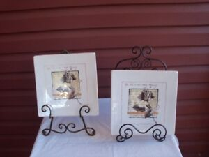 Pair of Dept. 56 Wall Plates--Mint! Were $41.95 each new!