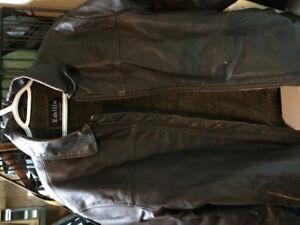 Veste de cuir pour homme