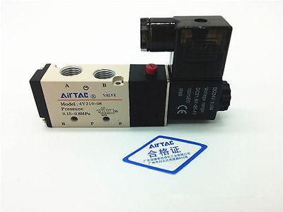 4v210-08 Dc24v 2 Position 5 Way Magnetic Solenoid Air Pneumatic Valve