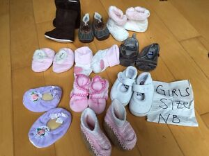 Girls shoes/boots size NB - size 9
