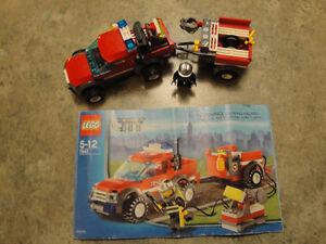 Lego City Fire truck and trailer