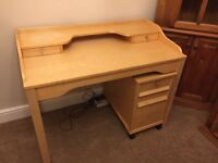 Desk and pedestal drawers