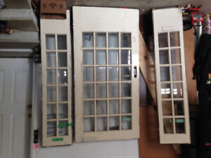 Vintage French Door and Side Panels off 1920 Victorian Home GTA